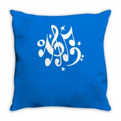 music notes#4 rock design graphic band Throw Pillow | Artistshot