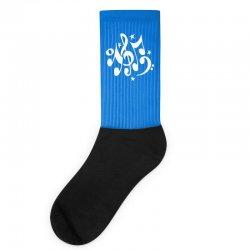 music notes#4 rock design graphic band Socks | Artistshot