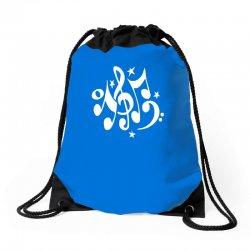 music notes#4 rock design graphic band Drawstring Bags | Artistshot