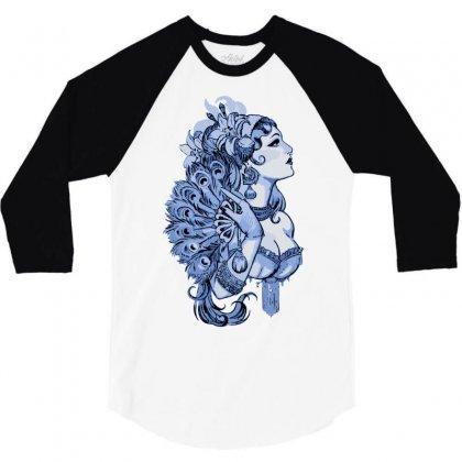 Pin Up Girls 3/4 Sleeve Shirt Designed By Sbm052017