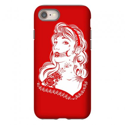 Sugar Skull Women White Iphone 8 Case Designed By Specstore
