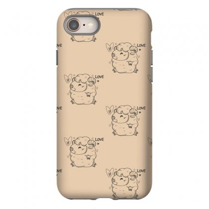 Happy Love And Life Sheep Iphone 8 Case Designed By Specstore