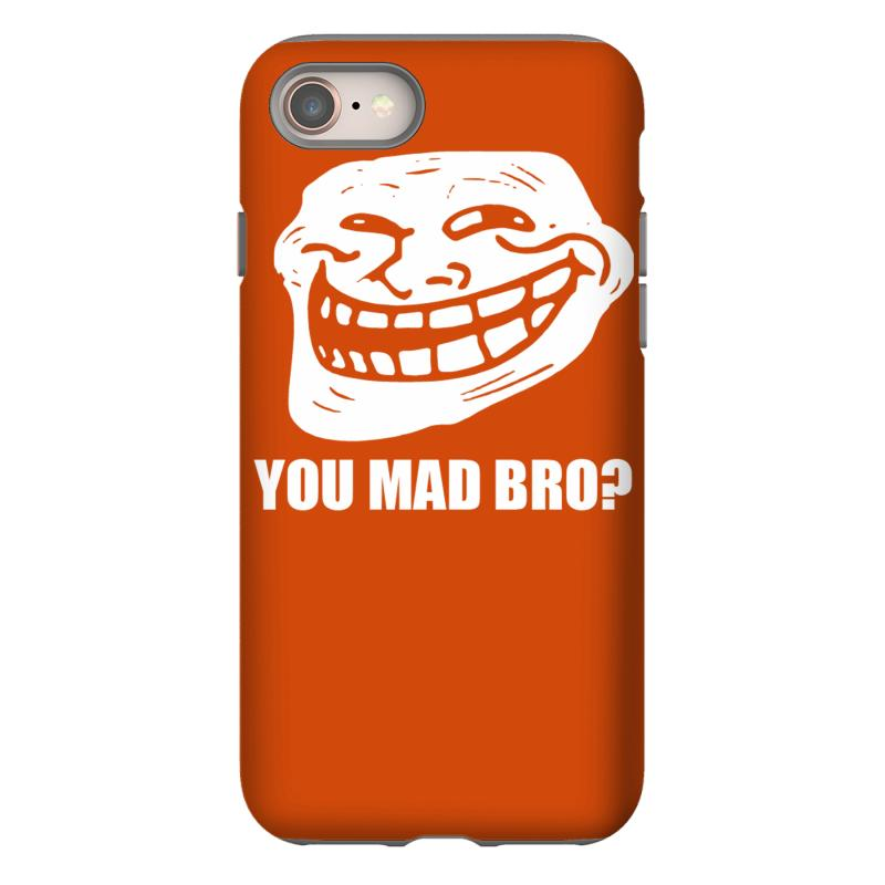 Troll Face Meme You Mad Bro Iphone 8 Case  By Artistshot