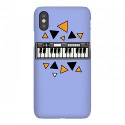 music,keyboard,electronic,piano,triangle,reflections,cute,vectorart, iPhoneX Case | Artistshot