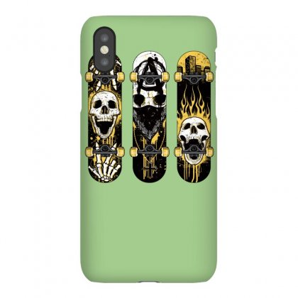 Burned Skate Skull Iphonex Case Designed By Specstore