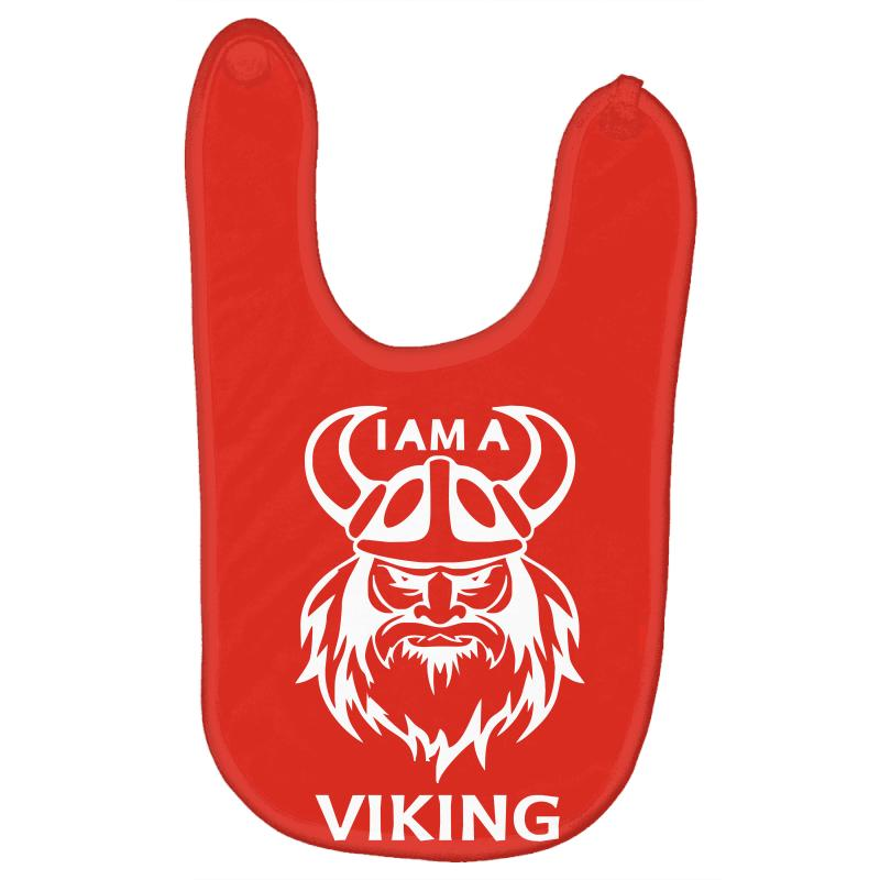 I AM A VIKING  FUNNY  100/% COTTON BABY VEST OR BIB
