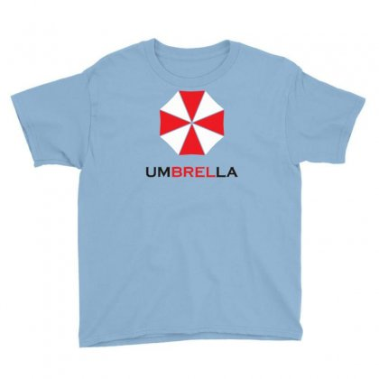 Resident Evil Logo Umbrella Corporation Zombie Videogames Youth Tee Designed By Syarip
