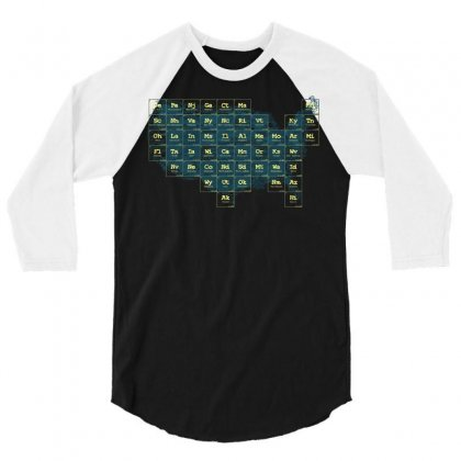 Periodic Table Of The States 3/4 Sleeve Shirt Designed By Fandysr88