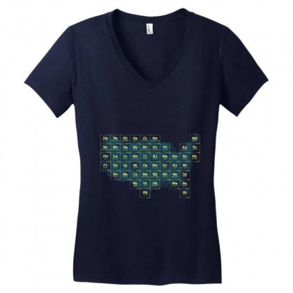 Periodic Table Of The States Women's V-neck T-shirt Designed By Fandysr88
