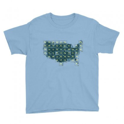 Periodic Table Of The States Youth Tee Designed By Fandysr88