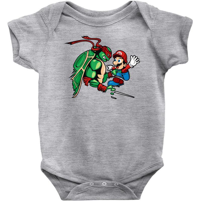 19cf5a7f1 Custom Raphael Meets Mario Baby Bodysuit By Denz - Artistshot
