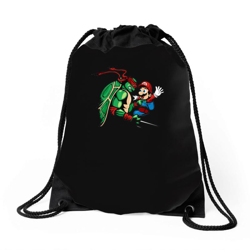 4bb761aa9 Custom Raphael Meets Mario Drawstring Bags By Denz - Artistshot