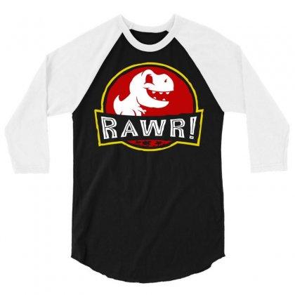Rawr! 3/4 Sleeve Shirt Designed By Fandysr88