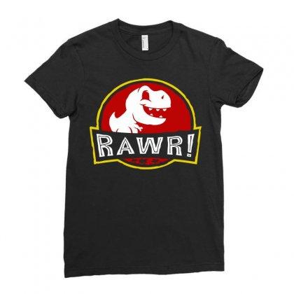 Rawr! Ladies Fitted T-shirt Designed By Fandysr88