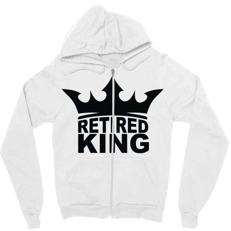 14dcfee6d Custom Retired King Zipper Hoodie By Denz - Artistshot