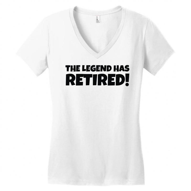 4864279e4 Custom Retirement Women's V-neck T-shirt By Denz - Artistshot