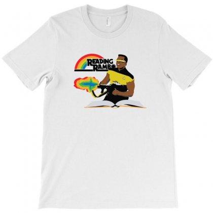 Reading Rambo Remix   Baby Blue T-shirt Designed By Fandysr88