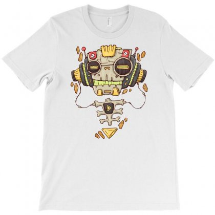 Robo Music T-shirt Designed By Denz