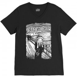scream for coffee V-Neck Tee | Artistshot