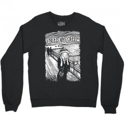 scream for coffee Crewneck Sweatshirt | Artistshot