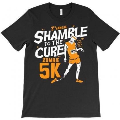 Shamble To The Cure Zombie 5k T-shirt Designed By Fandysr88