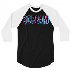scream 3d 3/4 Sleeve Shirt | Artistshot