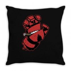 screaming doom Throw Pillow   Artistshot