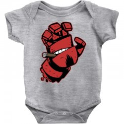 screaming doom Baby Bodysuit   Artistshot