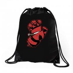 screaming doom Drawstring Bags   Artistshot