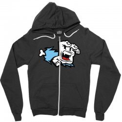 screaming paw Zipper Hoodie | Artistshot