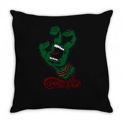 screaming mutant hand Throw Pillow | Artistshot
