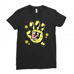 screaming sponge Ladies Fitted T-Shirt | Artistshot