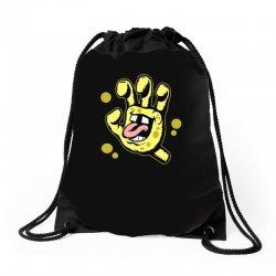 screaming sponge Drawstring Bags | Artistshot