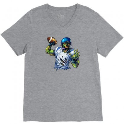 Sports Zombie V-neck Tee Designed By Daffdy
