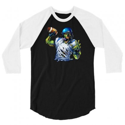 Sports Zombie 3/4 Sleeve Shirt Designed By Daffdy