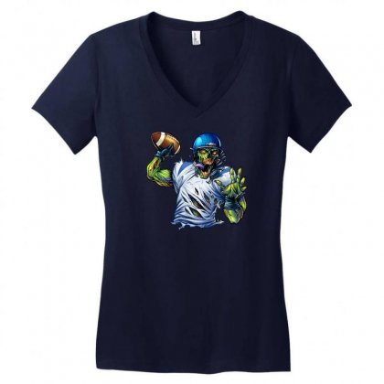 Sports Zombie Women's V-neck T-shirt Designed By Daffdy
