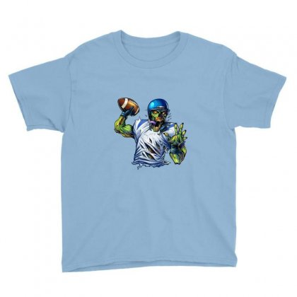 Sports Zombie Youth Tee Designed By Daffdy