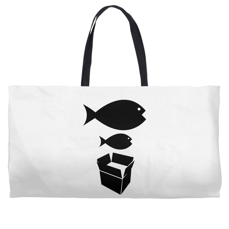 Custom Big Fish Little Fish Cardboard Box Music T Shirt Weekender ... a376410c14a9a