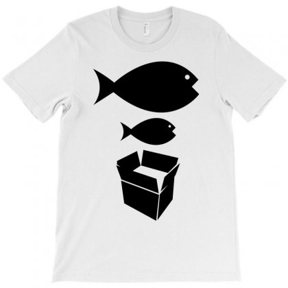 Big Fish Little Fish Cardboard Box   Music T Shirt T-shirt Designed By Irvandwi2