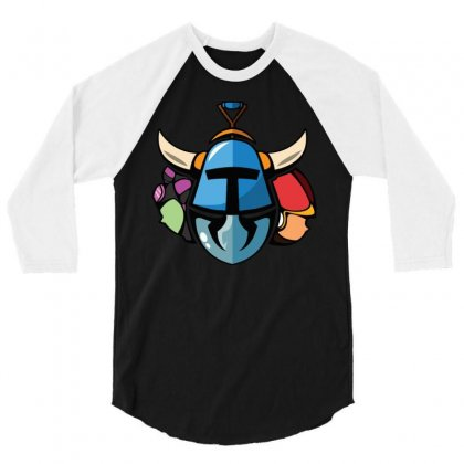 Shovel Knight And His Girls 3/4 Sleeve Shirt Designed By Denz