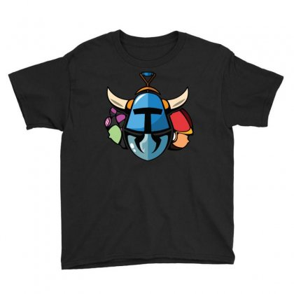 Shovel Knight And His Girls Youth Tee Designed By Denz