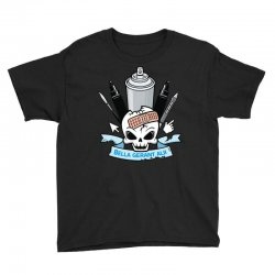 skull emblem Youth Tee   Artistshot