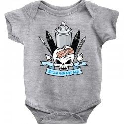 skull emblem Baby Bodysuit   Artistshot