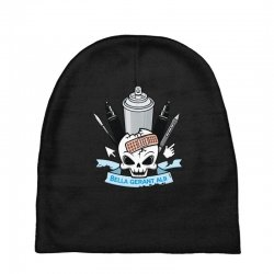 skull emblem Baby Beanies   Artistshot