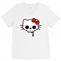 skull kitty V-Neck Tee   Artistshot