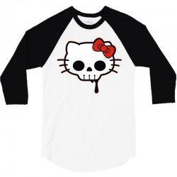 skull kitty 3/4 Sleeve Shirt   Artistshot