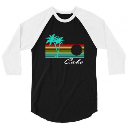 Cabo San Lucas Distressed 3/4 Sleeve Shirt Designed By Irvandwi2