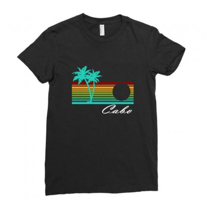 Cabo San Lucas Distressed Ladies Fitted T-shirt Designed By Irvandwi2
