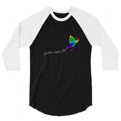 Butterfly Dreams 3/4 Sleeve Shirt Designed By Irvandwi2
