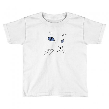 Cat Face Toddler T-shirt Designed By Irvandwi2